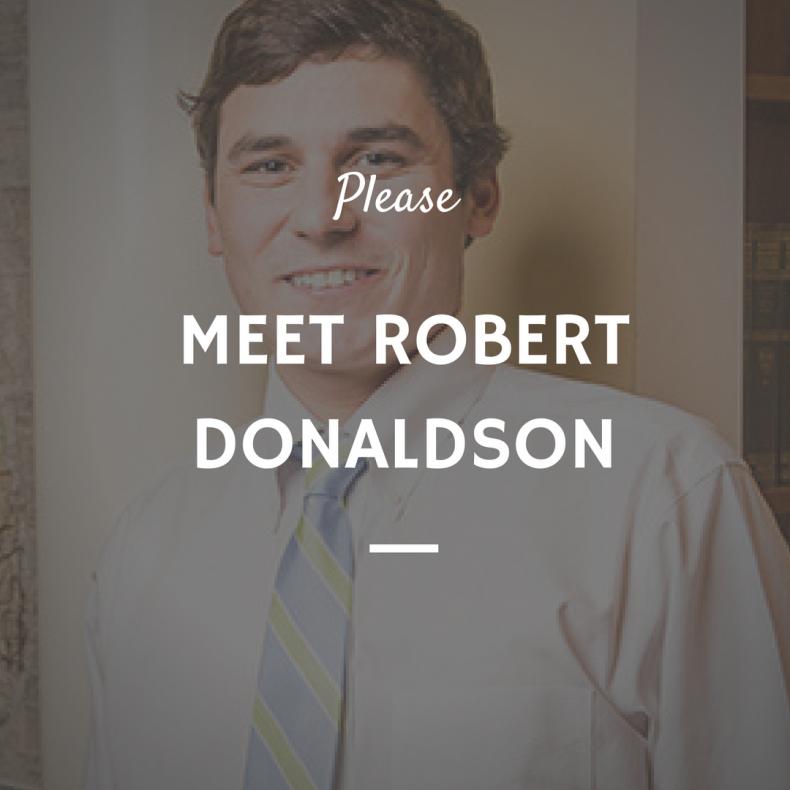 Meet Robert Donaldson IV