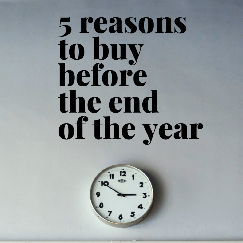 Five Reasons to Buy A House Before The End of the Year